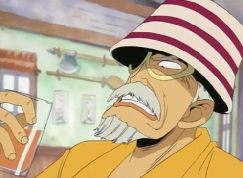 ¿Cómo se llama el alcalde de la villa de Luffy?