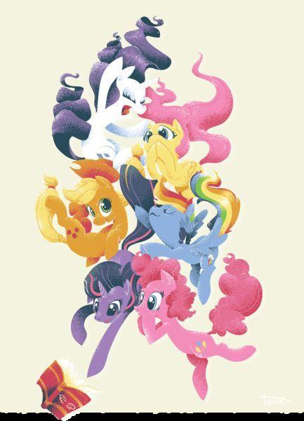 ¿Cuáles son las ponies (hasta ahora), que aparecido en un episodio, sin la aparición física de las otras cinco protagonistas?