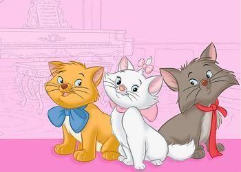 ¿Cuál es el nombre de estos tres gatitos de los Aristogatos?