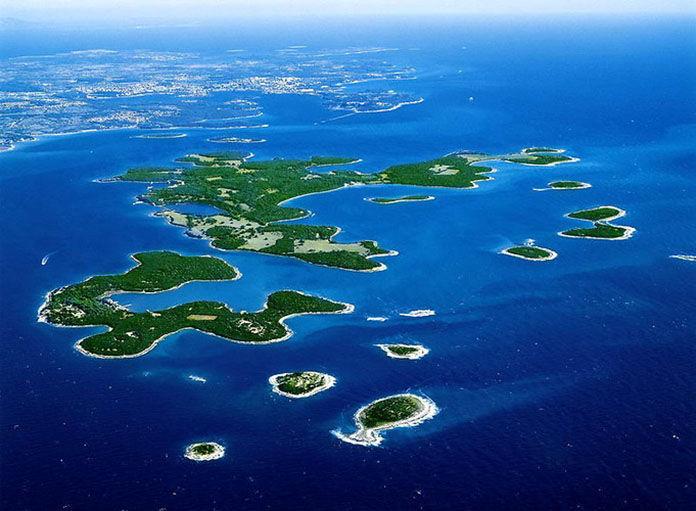 ¿Qué forma un conjunto de islas?