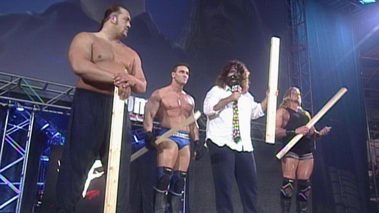 ¿Cómo se denominaba este equipo formado por Big Show, Ken Shamrock, Mankind y Test?