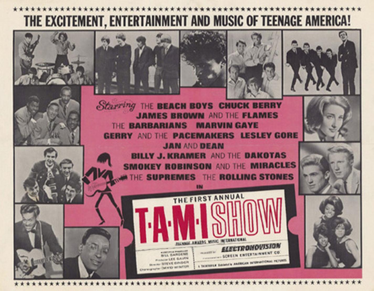 ¿Quién fueron los últimos en tocar en el T.A.M.I. Show de 1964?