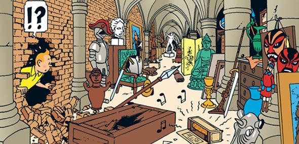 ¿En qué álbum toda la trama se desarrolla dentro del castillo de Moulinsart?