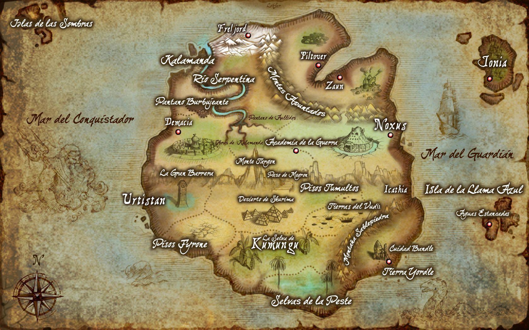 7866 - ¿De qué ciudad o región de Runaterra eres? League of Legends