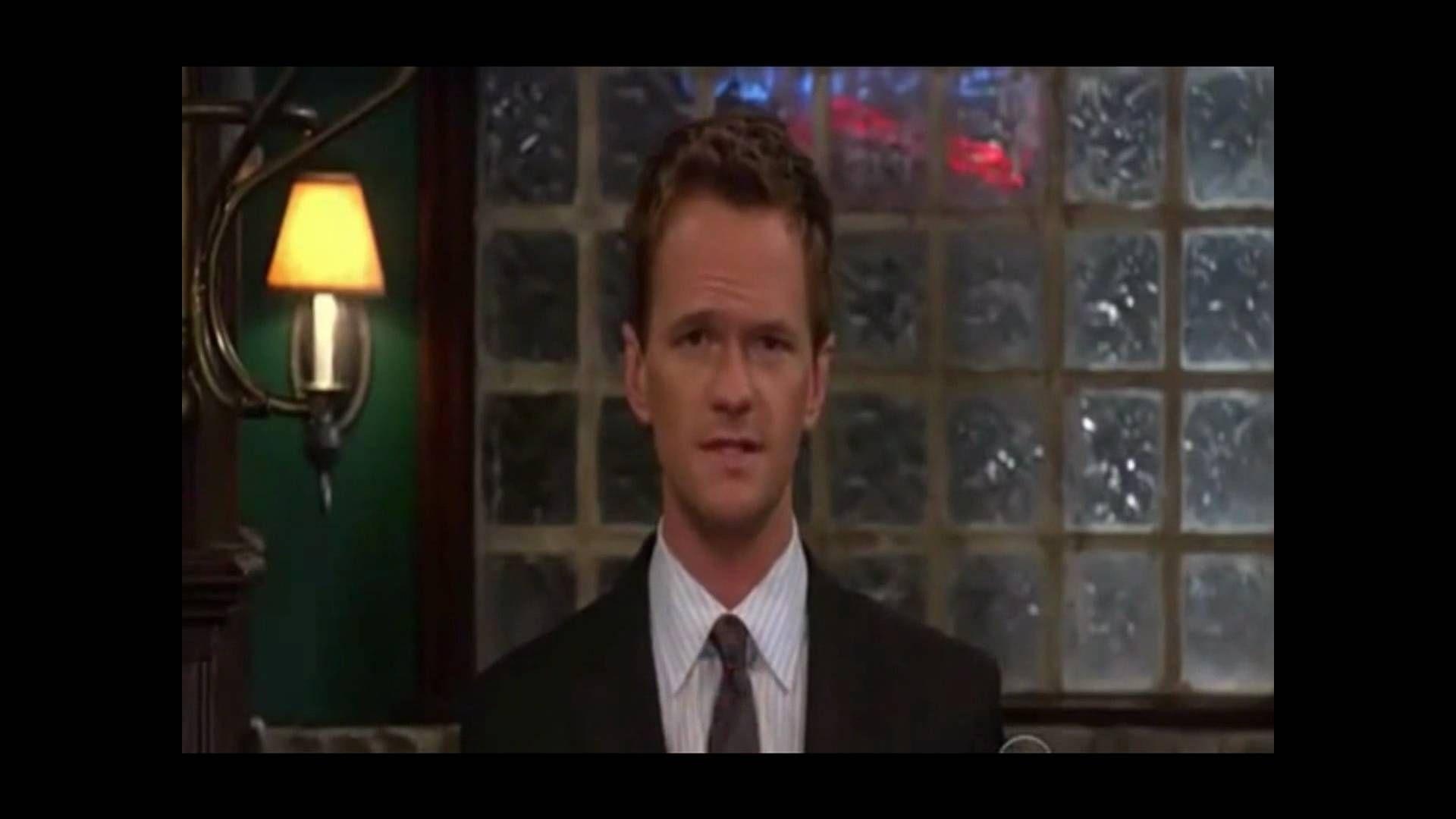 ¿En esta imagen, qué frase esta a punto de decir Barney? (Pista: El y Robin acaban de romper)