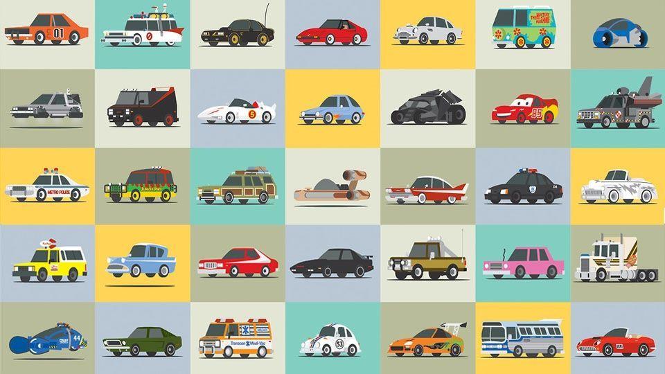 7998 - ¿En qué series, películas o dibujos animados salen cada uno de estos coches?