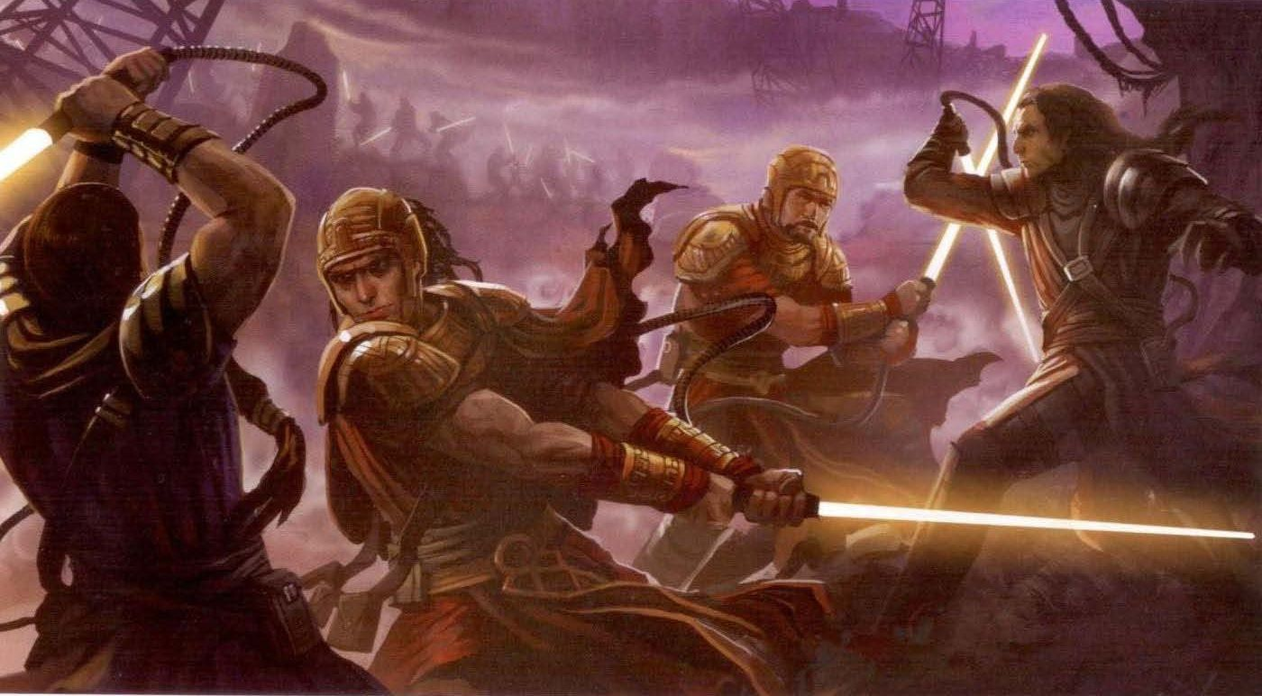 ¿Qué grupo de Jedis fueron influenciados por las Legiones de Lettow miles de años después del Primer Gran Cisma?