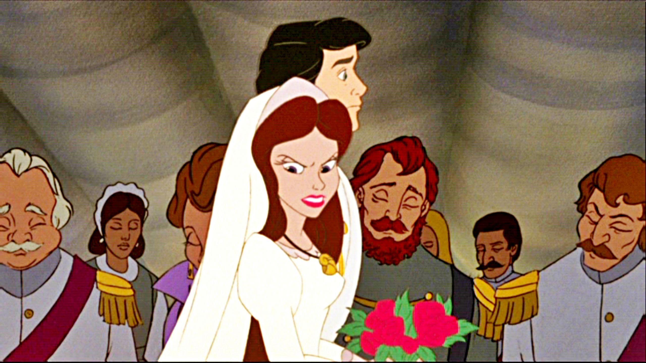En La Sirenita, cuando Úrsula se trasforma en una novia para el príncipe Eric, ¿qué nombre usa?