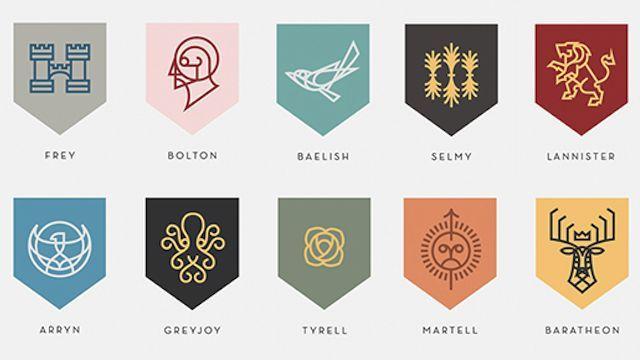 8063 - ¿Sabrías a que casas de Canción de Hielo y Fuego pertenecen estos emblemas?