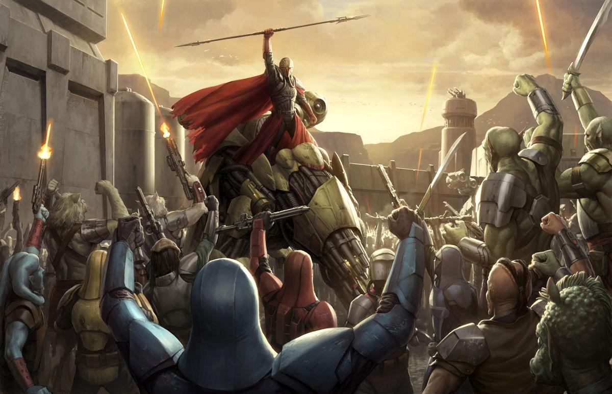 ¿Qué Mandalore (líder mandaloriano) peleó junto a los Sith y cuál peleó contra los Sith?