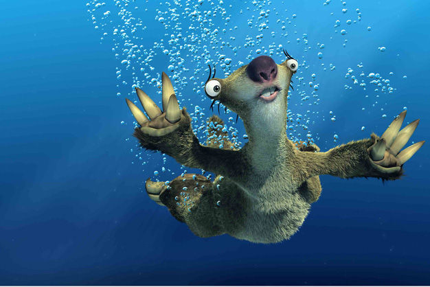 Los osos perezosos tienen pánico al agua.