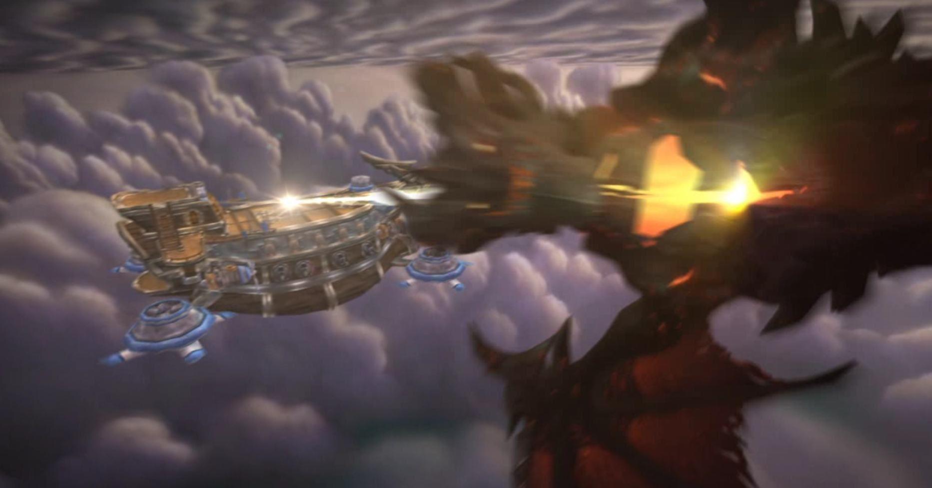 Los campeones se lanzan desde el Abrasacielos para acabar con la armadura de elementium. Alamuerte cayó en...