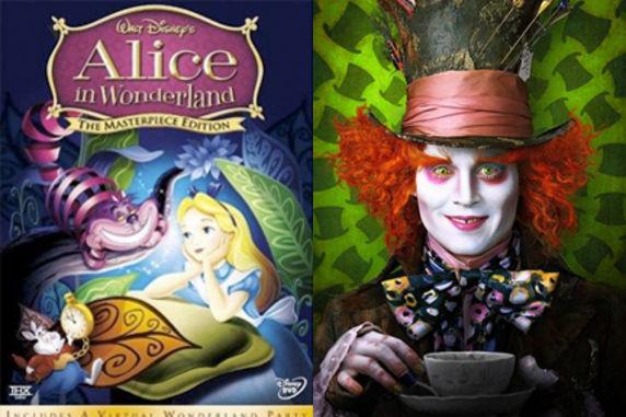 Alicia en el País de las Maravillas (1951) VS. Alicia en el País de las Maravillas (2010)