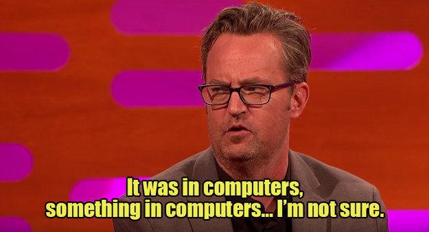 ¿Cuál es el trabajo de Chandler? (Durante las primeras temporadas, hasta que lo deja)