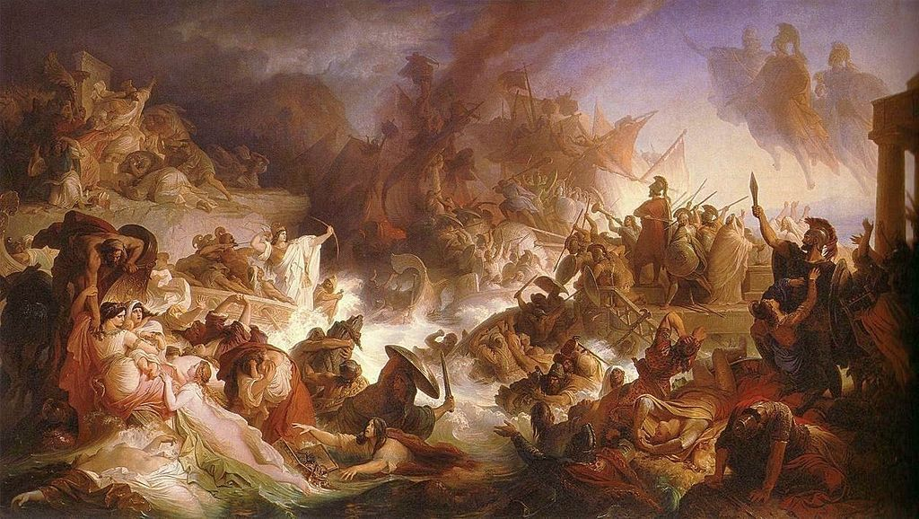 ¿Cuál de estas batallas tuvo como participantes a persas y griegos?