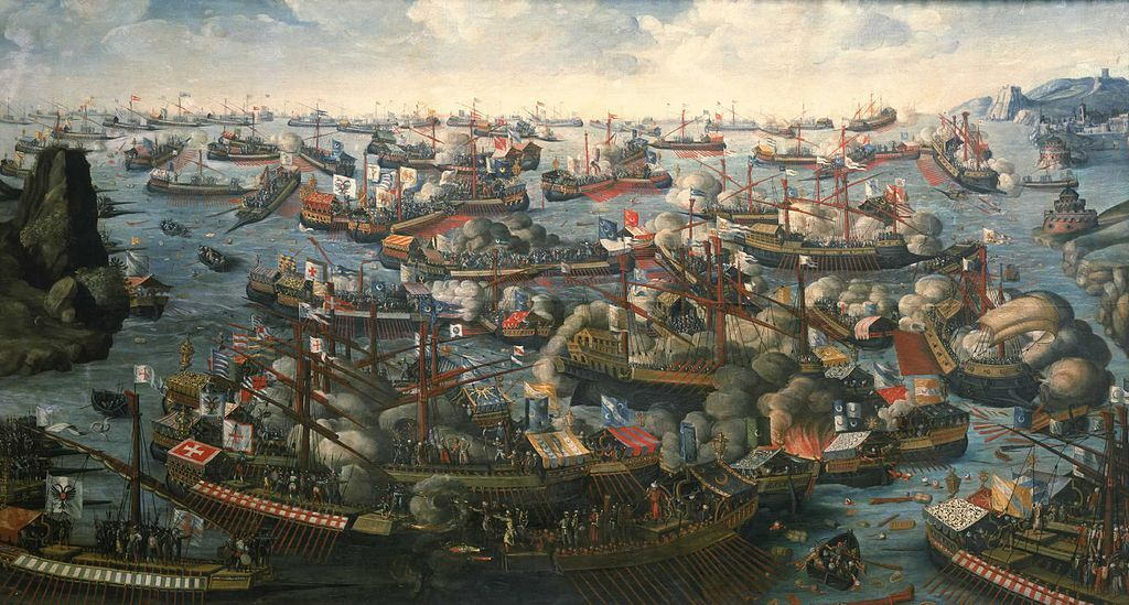 ¿Cómo se llama la batalla que tuvo lugar cerca de la ciudad de Návpaktos en 1571?