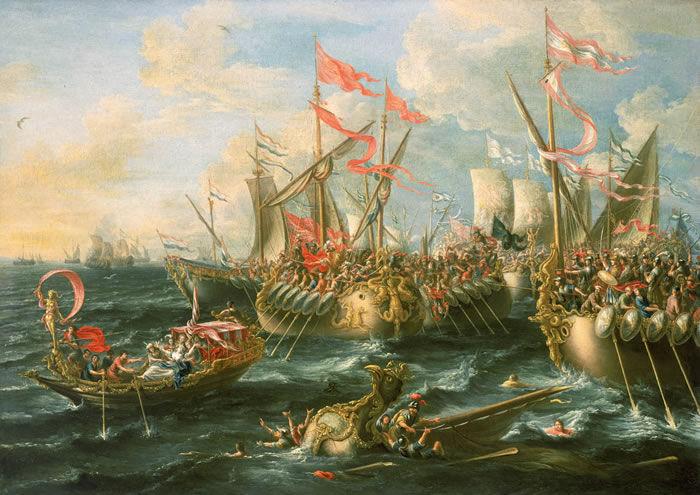 ¿Cuál de estas batallas hizo parte de una guerra civil romana?