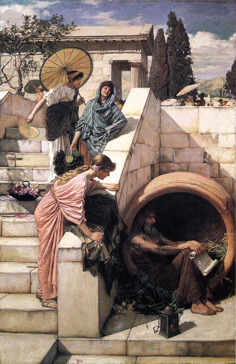 El filosofo Diógenes, un tipo entrañable. ¿Qué ocurrió en la realidad?