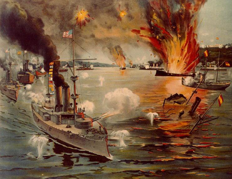 Una de la Guerra hispano-americana, la invasión de Guam