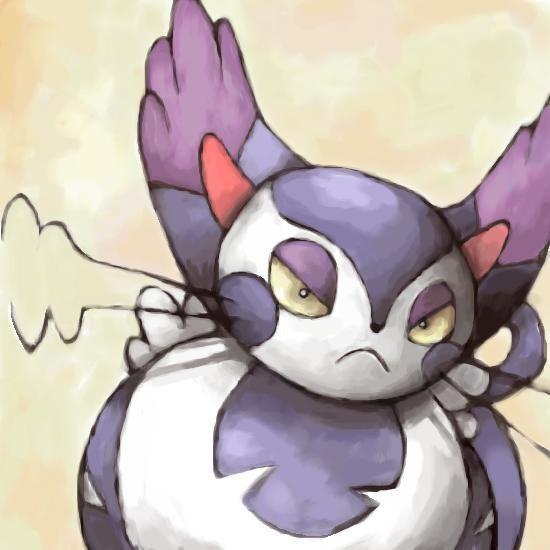 ¿Qué tipo/s tendrá esta gata enfadada? Purugly.