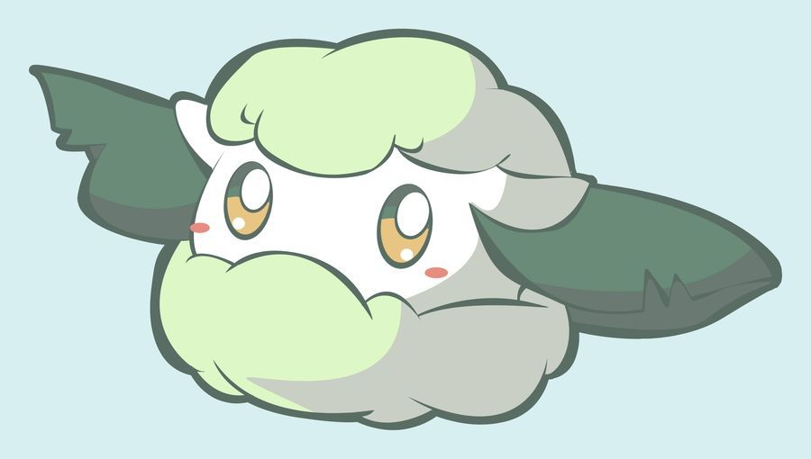 ¿Y esta nube con hojas.... que diga, Cottonee?