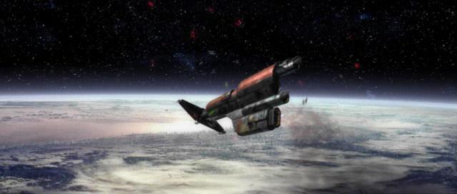 ¿A qué planeta caemos luego de que se destruya la nave?