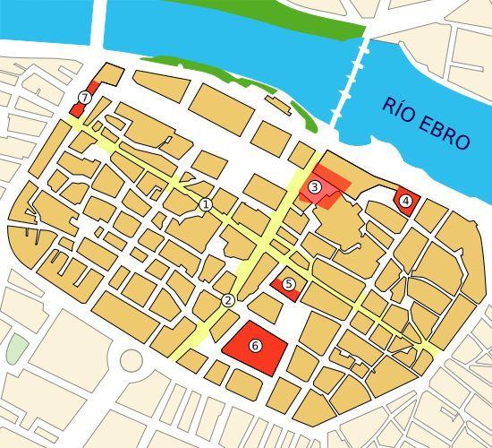 Ya en la ciudad romana. ¿Dónde se ubicaba el foro de la ciudad de Caesaraugusta?