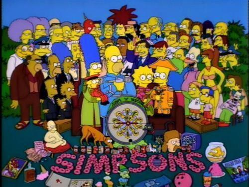 ¿En qué episodio se parodia a la portada de Sgt. Pepper's Lonely Hearts Club Band?