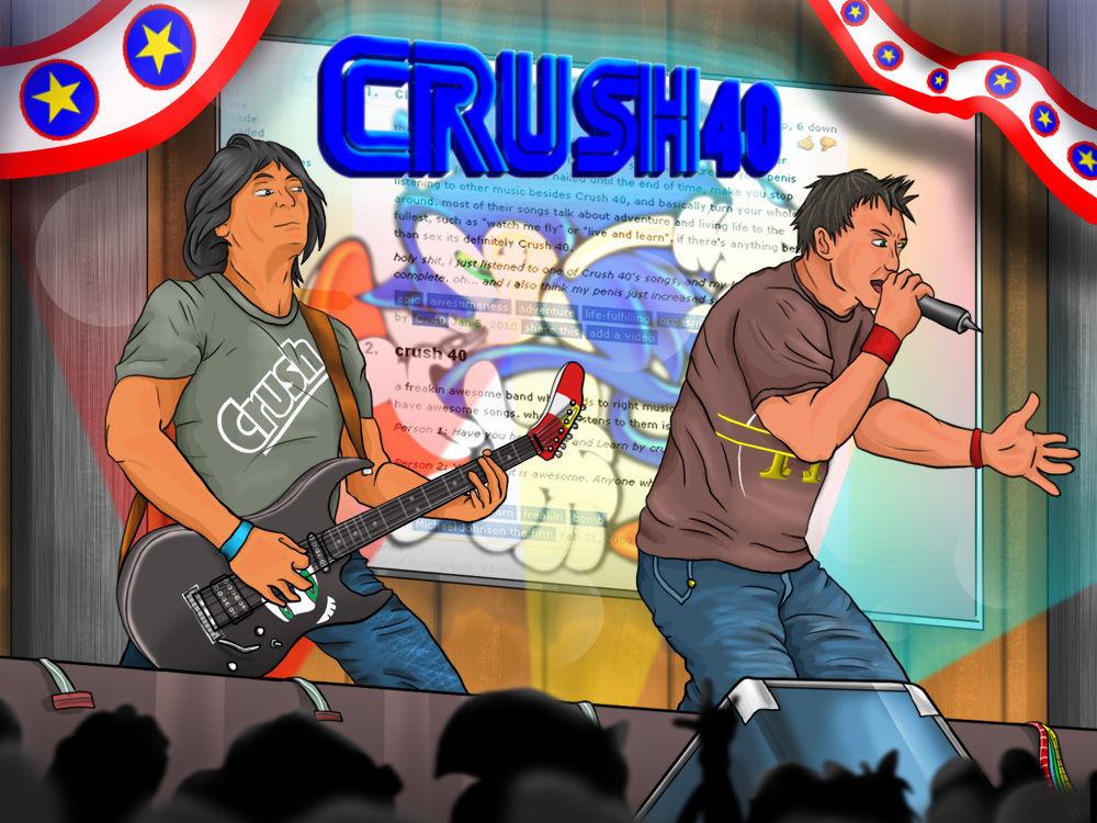 ¿Por qué Crush 40 se llama así?