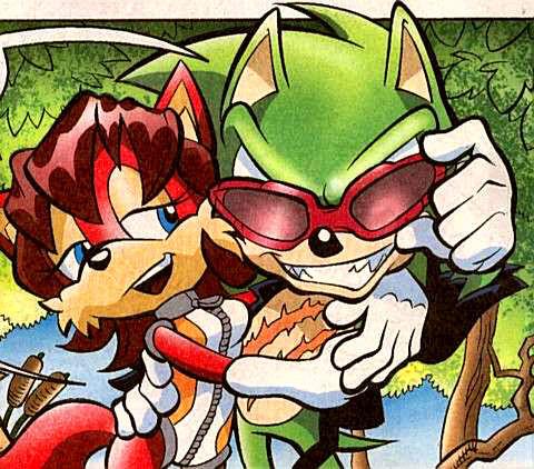 En los comics de Sonic, ¿cómo se llama la novia de Scourge?