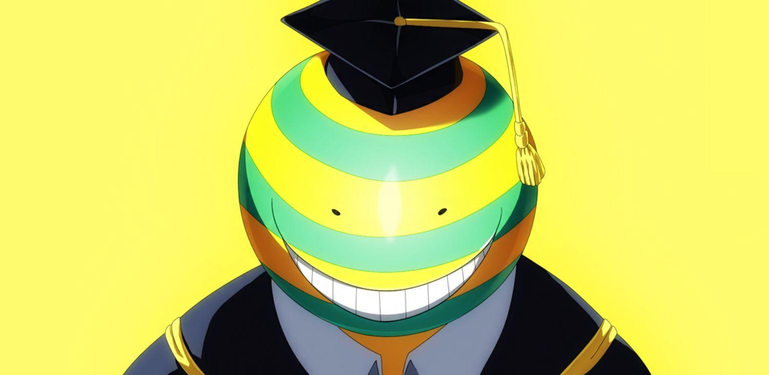 ¿Cuándo Korosensei se pone de color verda y amarillo?