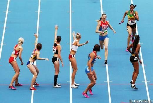 ¿ Cuál es el récord de los relevos 400 metros (femenino)?