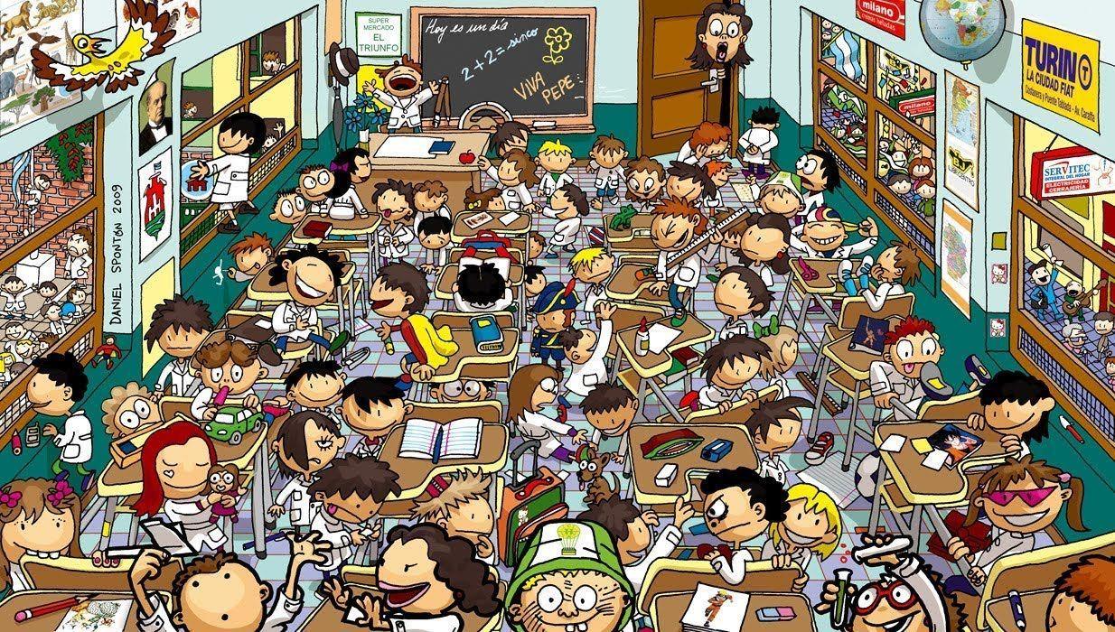 ¿Dónde te situas/situabas en el colegio?