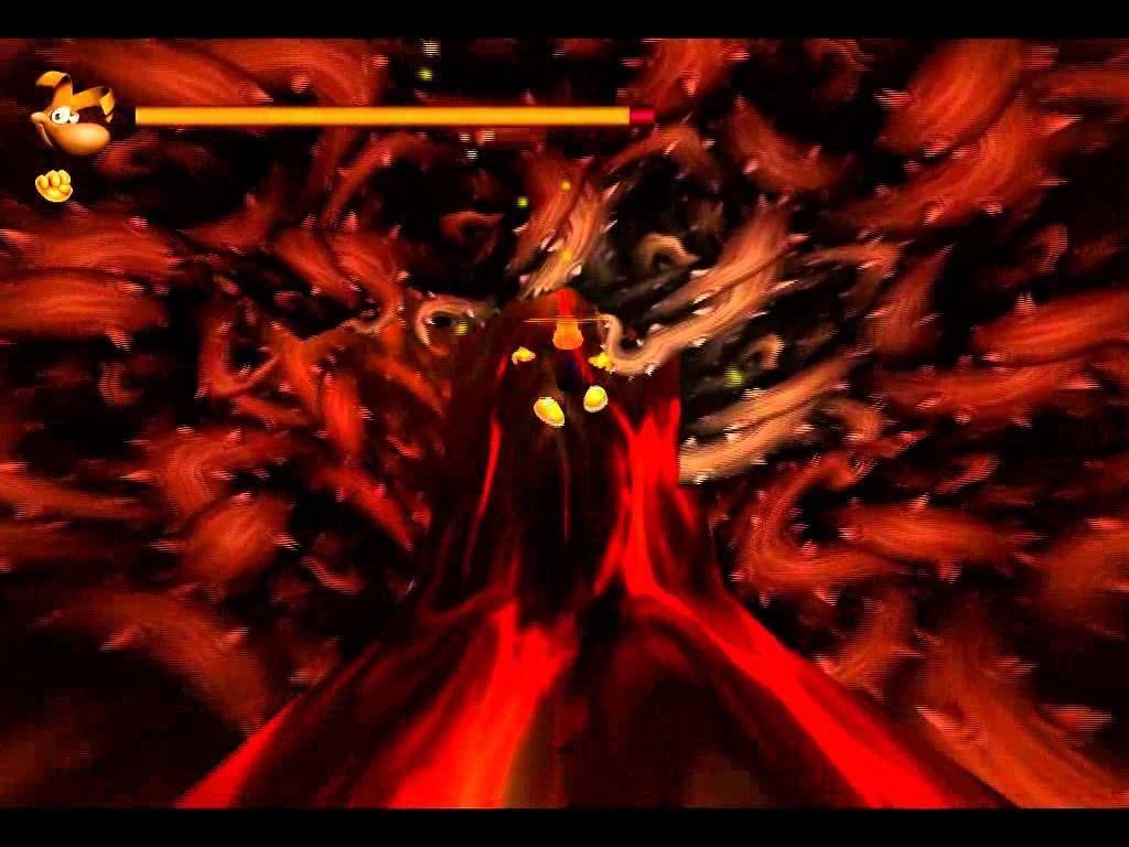 ¿Cuál es el vehículo que usa Rayman solo para desplazarse por la lava?
