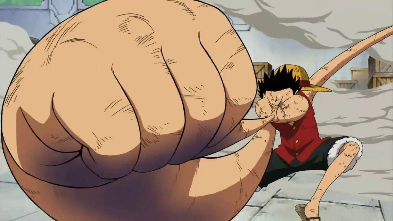 ¿Cuándo utiliza Luffy por primera vez la tercera marcha?