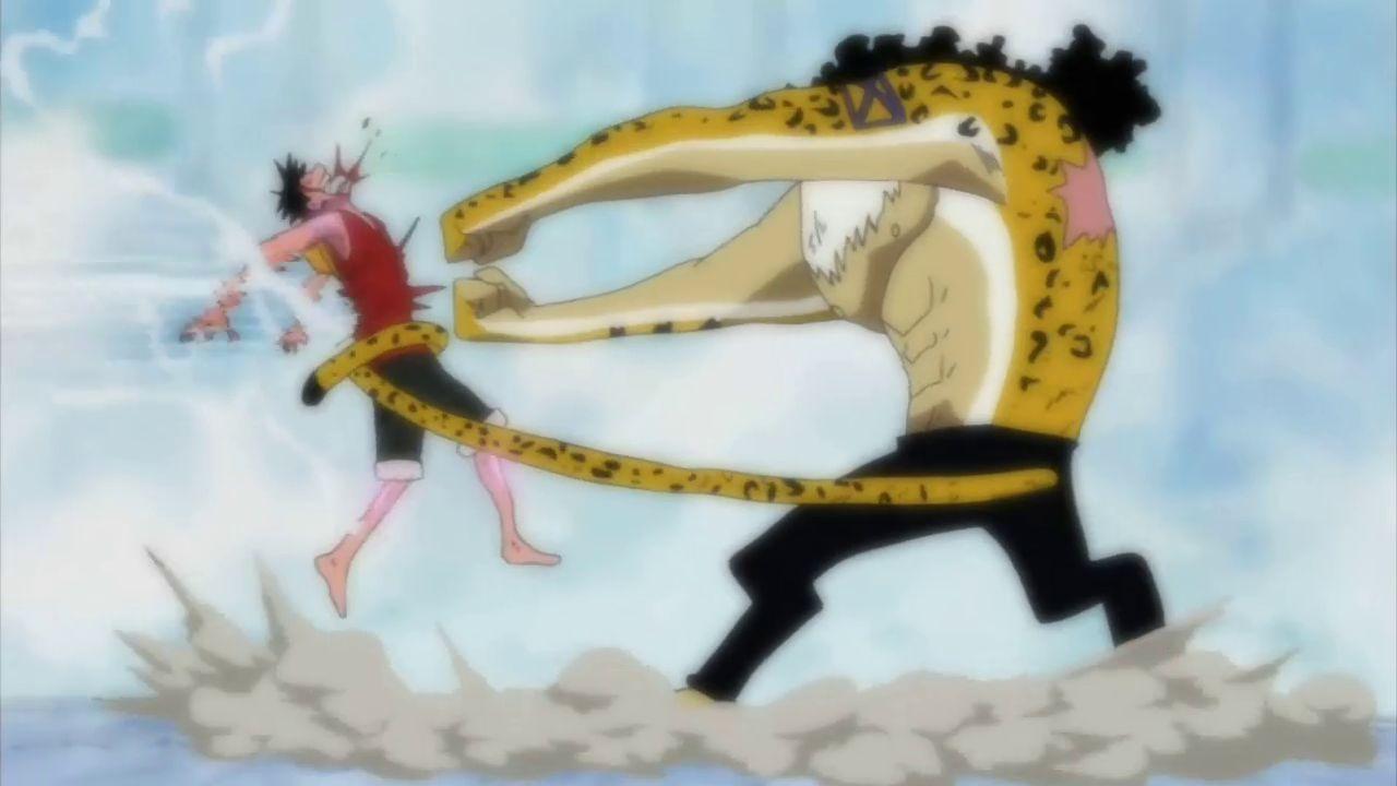 ¿Cuántos  rokuogans le da Lucci a Luffy?