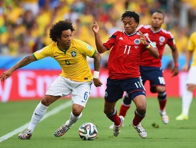 La selección colombiana cayó en Cuartos contra Brasil por 2-1, ¿Quiénes marcaron los dos goles de la canarinha?