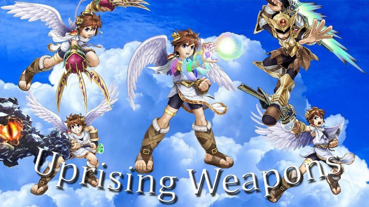 ¿Cuál de estas armas no esta disponible en Kid Icarus: Uprising?