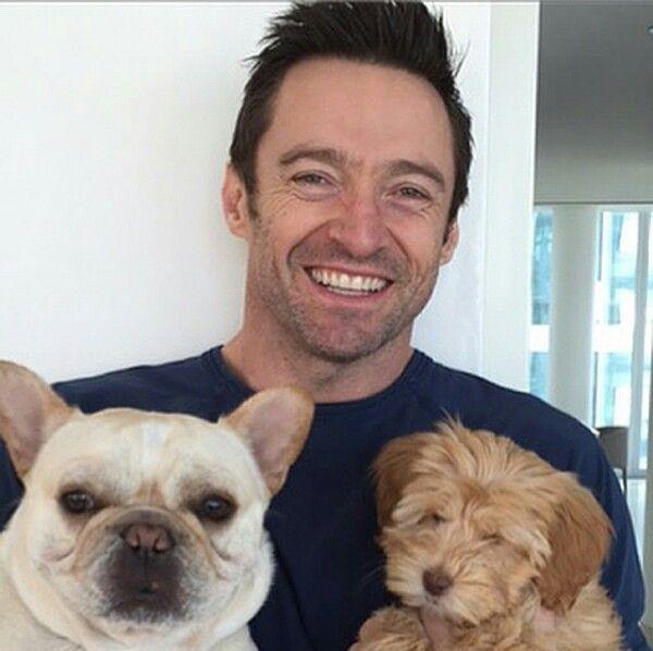 ¿Cómo se llaman los perritos de Hugh Jackman?