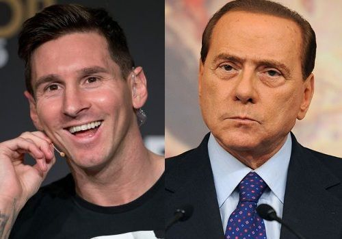 ¿Miden lo mismo Leo Messi y Silvio Berlusconi?