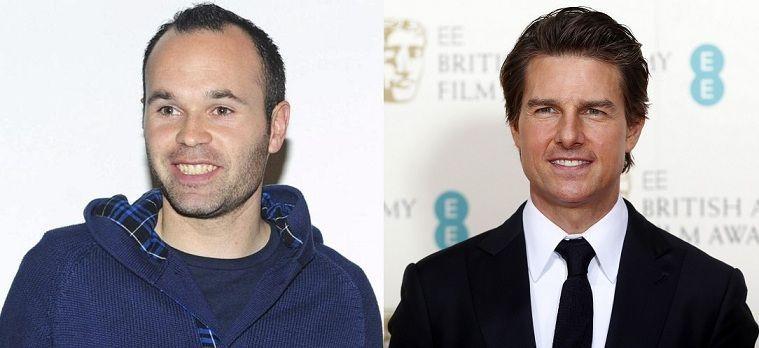 ¿Miden lo mismo Andrés Iniesta y Tom Cruise?