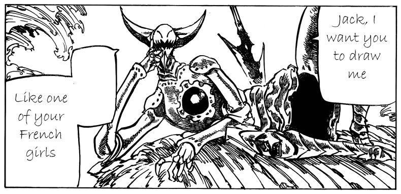 ¿Cuál es el nivel de poder de Galan en su primer encuentro con los Deadly Sins?