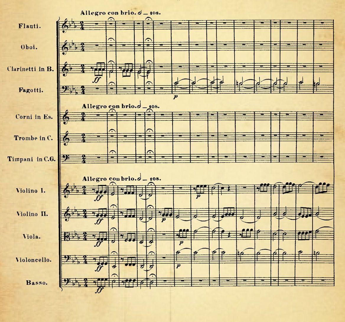 ¿Qué famosa sinfonía de Beethoven empieza con estas notas?