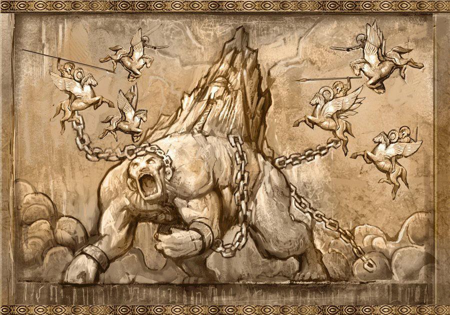 ¿En la espalda de qué Titán se encadenó el templo de Pandora?