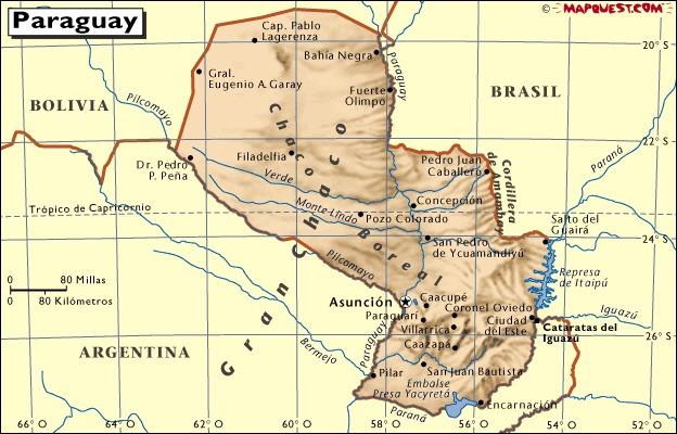¿En qué se dividen los territorios del Paraguay?