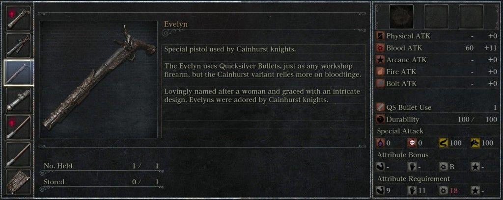 ¿A qué arma de Dark Souls y Dark Souls 2 hace referencia la pistola Evelyn de Bloodborne?