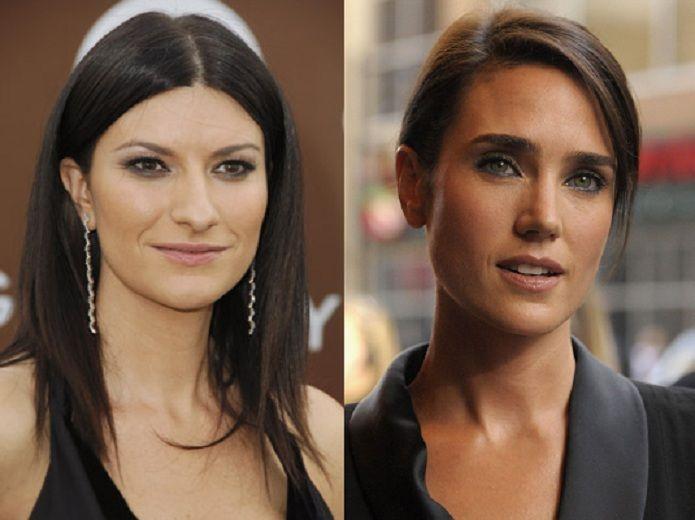 ¿Miden lo mismo Laura Pausini y Jennifer Connelly?