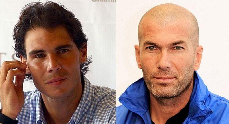 ¿Miden lo mismo Rafa Nadal y Zinedine Zidane?