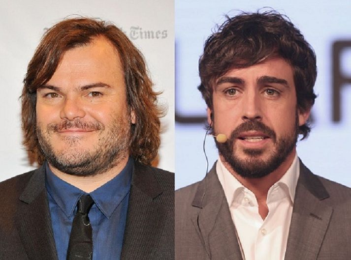 ¿Miden lo mismo Jack Black y Fernando Alonso?