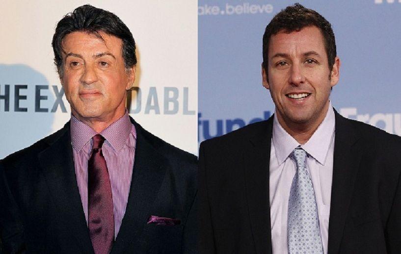 ¿Miden lo mismo Sylvester Stallone y Adam Sandler?